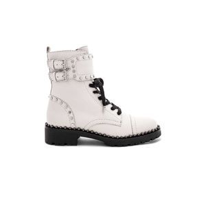 Sam Edelman Jennifer Combat Leather Lace Stud Boot